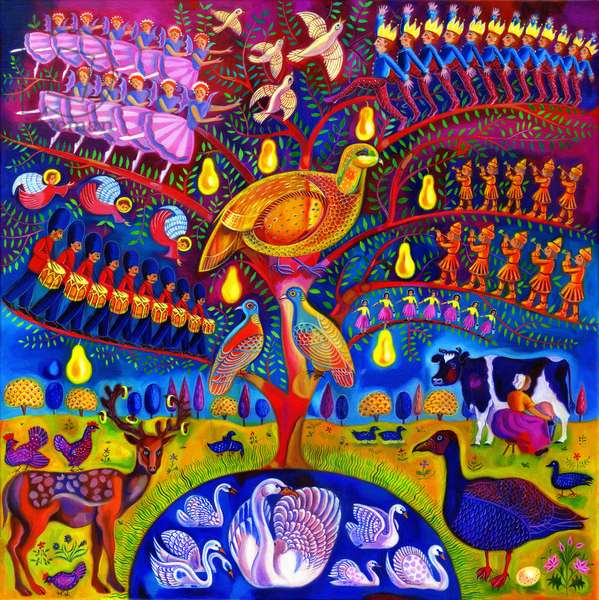 The Twelve days of Christmas, 2010, (oil on canvas)