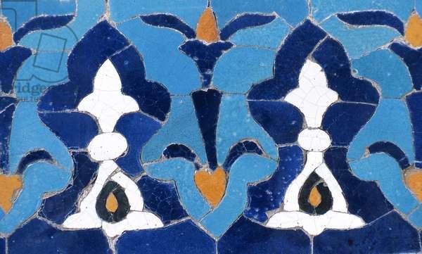 Detail of ceramic in mausoleum of Timur,  (photo)