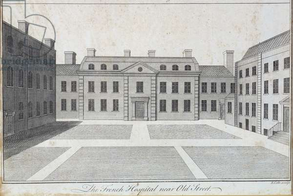 The French Protestant Hospital, near Old Street, from Maitland's 'History of London', 1756 (engraving)