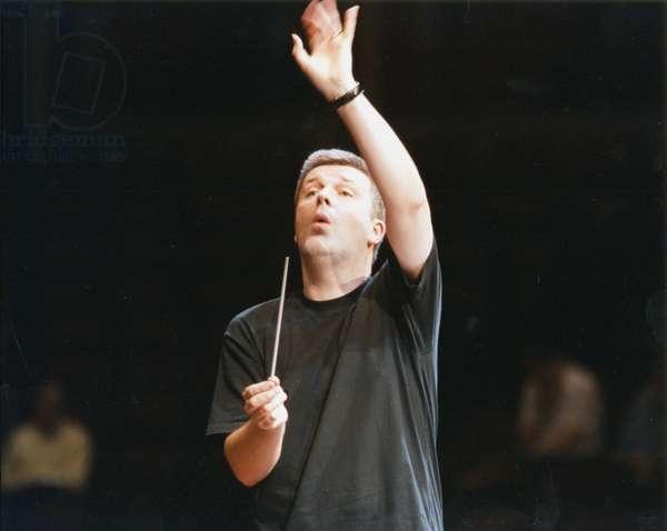 James MacMillan conducting with