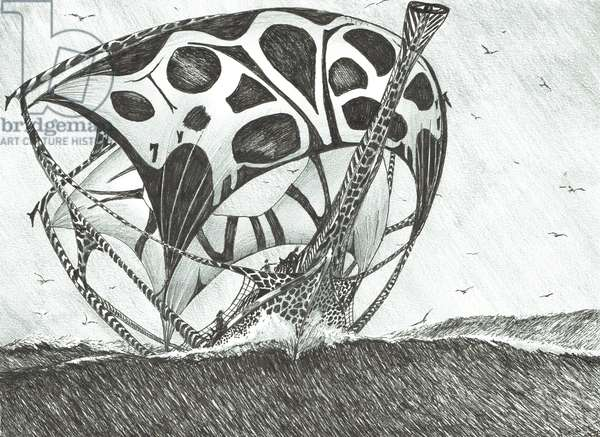 Storm Creators Somov Sea, 2017, (ink and pencil on Paper)