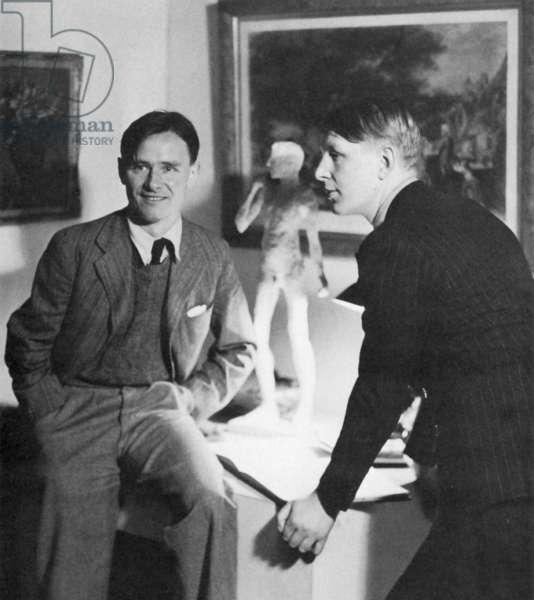 ISHERWOOD AND AUDEN. Christopher Isherwood (1904-1986), English writer, and W.H. Auden (1907-1973), English poet.
