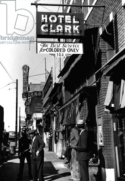 'Colored only' service in Memphis, 1939 (b/w photo)