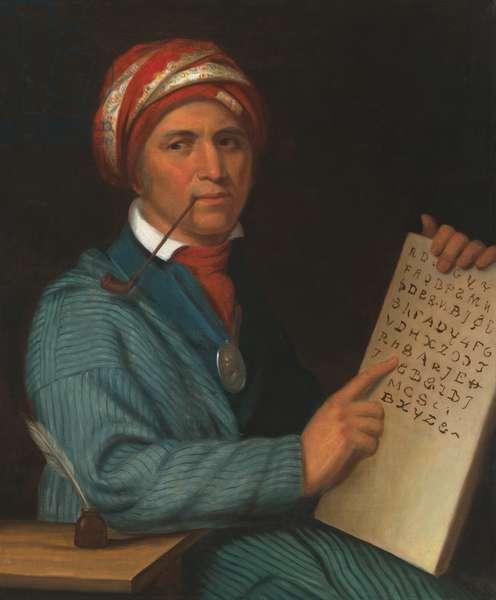 Sequoyah (c. 1770-1843), c.1830 (oil on canvas)