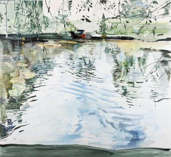 Hobby House and Ripples, Goldbekkanal, 2013, (oil on canvas)