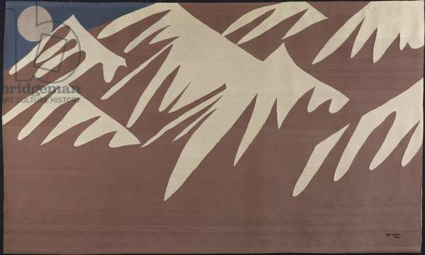 Hindu Kush, 1969 (wool and cotton, slit tapestry weave)