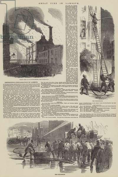 Great Fire in Lambeth (engraving)