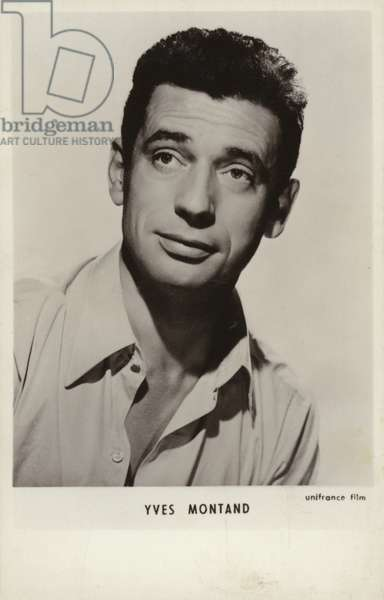 Yves Montand, Italian-born French actor and singer (b/w photo)