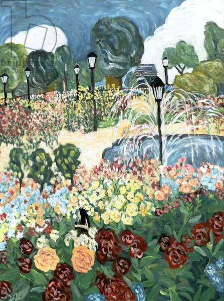 Rose Garden, 2019 (acrylic on canvas)