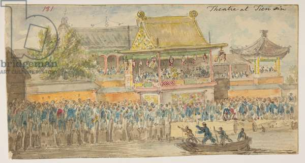 181 'Theatre at Tien sin.', from an Album of 372 drawings of landscapes, coastlines, costumes and everyday life made during Lord Macartney's embassy to the Emperor of China, between 1792 and 1794 (pencil & w/c on paper)