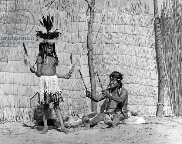 Yokut Medicine Man, California, c.1930  (b/w photo)