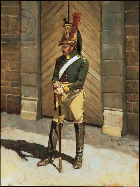 Trooper: 23rd Dragoons 1813, 1995 (oil on board)