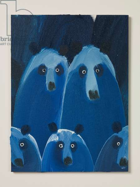 Bear Family, 2018 (oil on canvas)