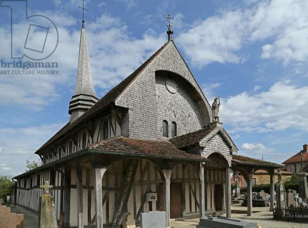 Half-timbered church of Champagne