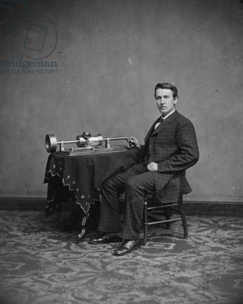 Thomas Edison, c.1877-8 (b/w photo)