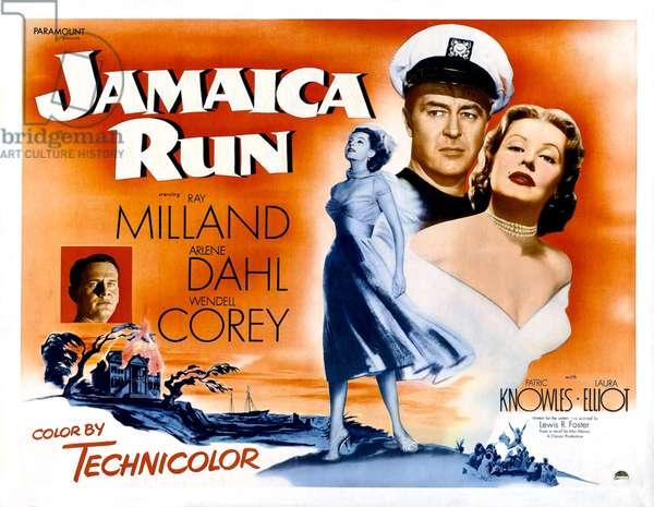 Courrier pour la Jamaique: JAMAICA RUN, Wendell Corey, Ray Milland, Arlene Dahl, 1953.