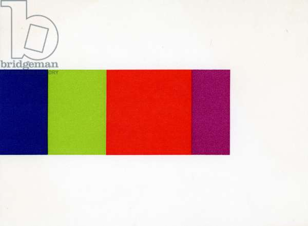 Minami Invitation Card (recto), 1967 (colour litho)