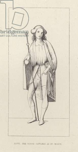 The Young Raphael as St Roque (engraving)