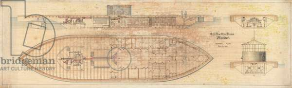 U.S. Iron Clad Steamer Monitor, 1862 (architectural drawing)