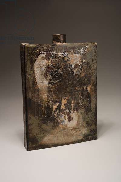 Slab Vase with Haiku, 1962 (stoneware with slips and glazes)