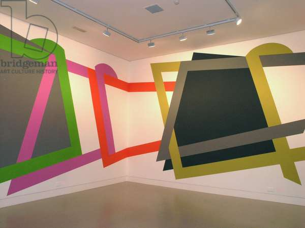 Throwing Shapes, wall painting in the café at CGP Gallery, London , 2010 (photo)