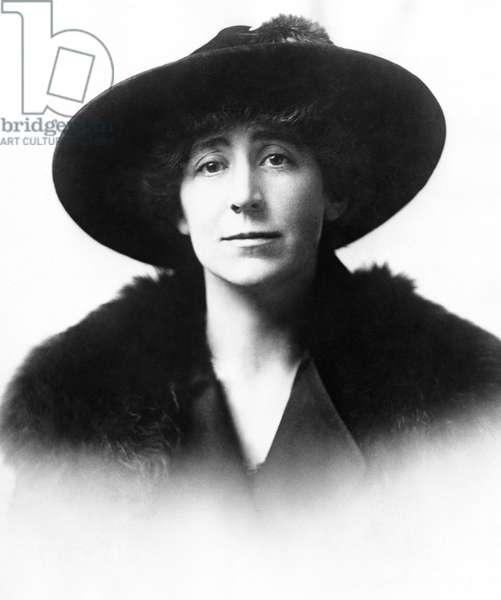JEANNETTE RANKIN (1880-1973). American suffragist, pacifist, and legislator. Photograph, c.1917.