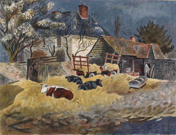 Essex Farmyard, 1948 (w/c on paper)