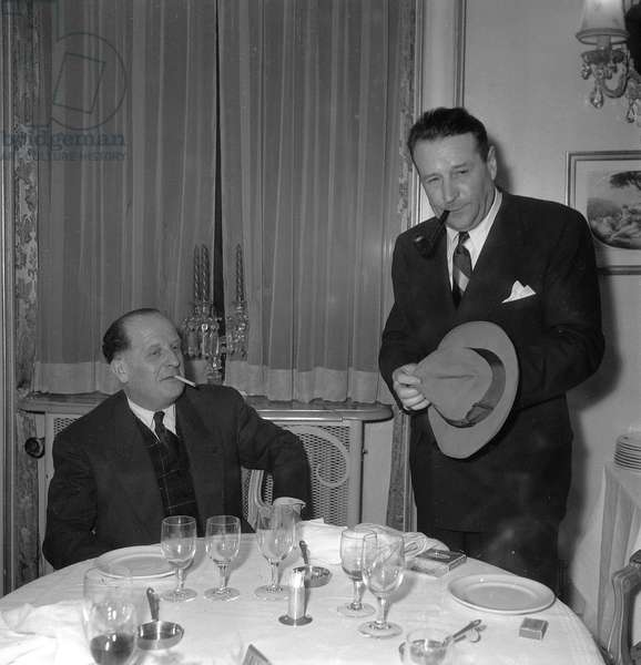 Georges Simenon with Max Favalelli, 1952