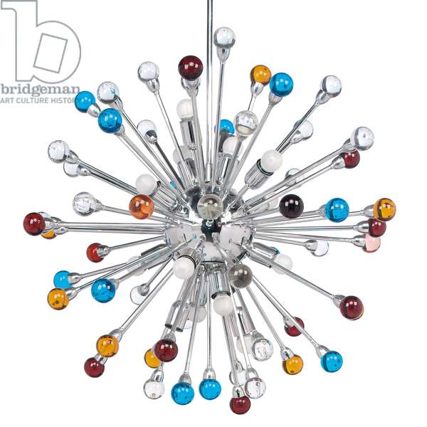 'Sputnik' chandelier, c.1965 (silvered metal & glass)