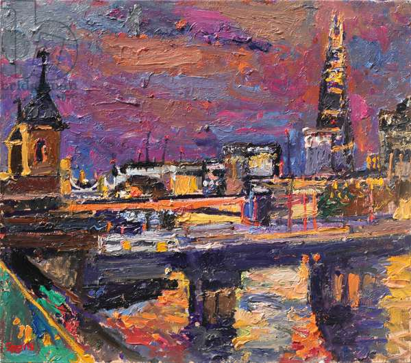 Night, the Shard, 2013 (oil on board)