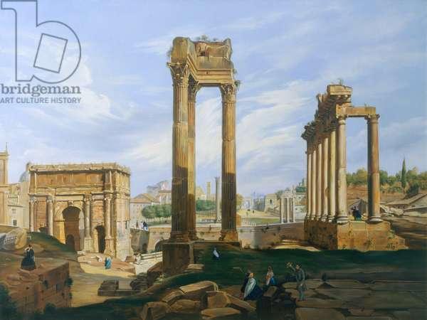 The Roman Forum (oil on canvas)