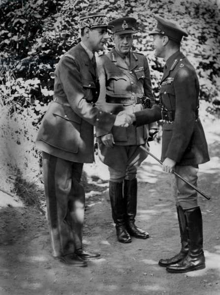 George VI and General Charles De Gaulle, 1940