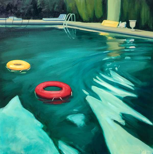 The Swimming Pool, 2016 (oil on canvas)