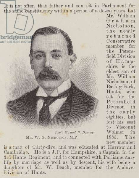 Mr W G Nicholson, MP (engraving)