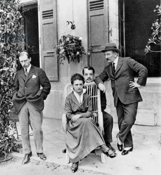 Igor Stravinsky, Tamara Karsavina, Serge Diaghilev and Leon Bakst in Lausanne in 1915