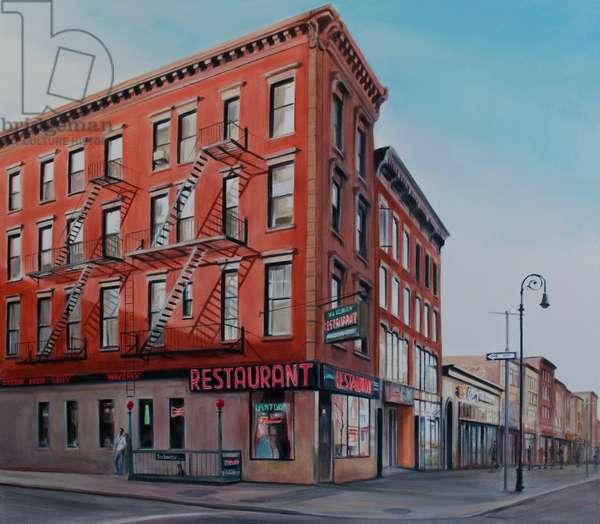 New York Restaurant, 2013, (oil on canvas)