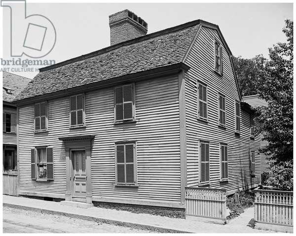 Hawthornes birth place, Salem, Mass (b/w photo)