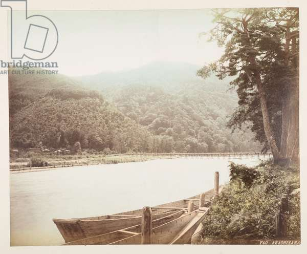Arashiyama, from A Book of Coloured Photographs of views in Japan, 1895 (coloured photo)