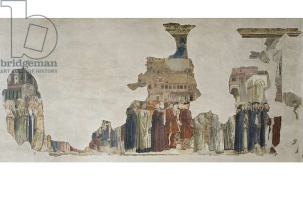 Transfer of the body of Sant'Ercolano from the place of first burial to the church of S. Pietro, 1461-80 (fresco)