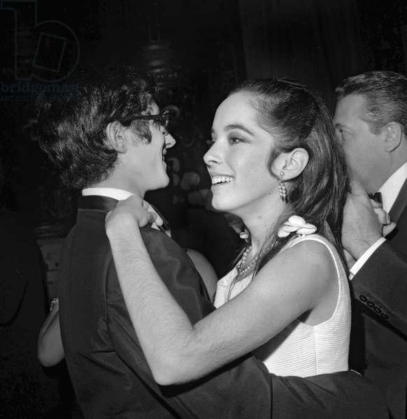 Yves Saint-Laurent and Josephine Chaplin, 1967 (b/w photo)