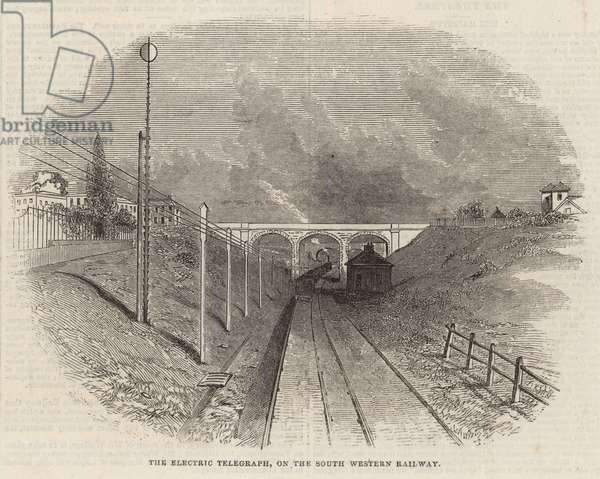 The electric telegraph on the South Western Railway (engraving)