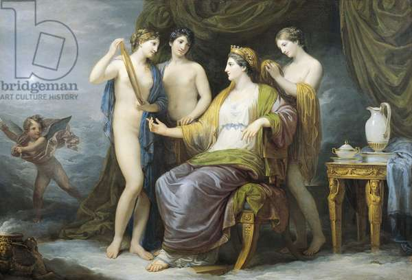 Juno bathing or Juno attired by Graces, by Andrea Appiani (1754-1817), oil on canvas, 100x142 cm