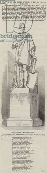 Statue of Sir David Wilkie, in the National Gallery (engraving)