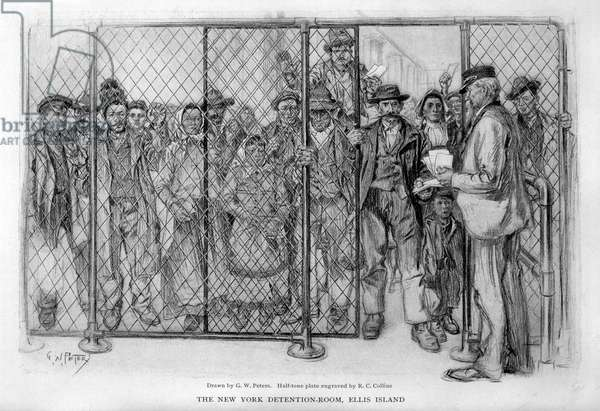 Immigrants arriving at Ellis Island, New York