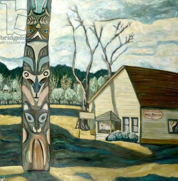 Oaks Totem, 2019 (acrylic on canvas)