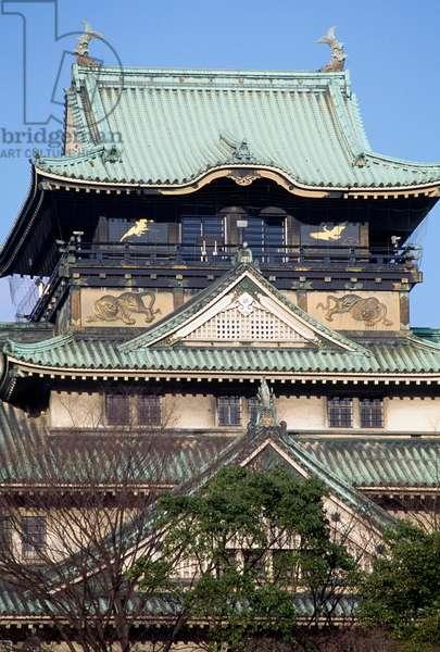 Osaka Castle rebuilt after Second World War, Osaka, Japan, 16th century