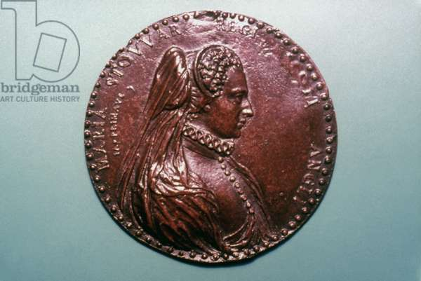 MARY, QUEEN OF SCOTS (1542-87). Bronze medal, 1587, by Jacopo Primavera.