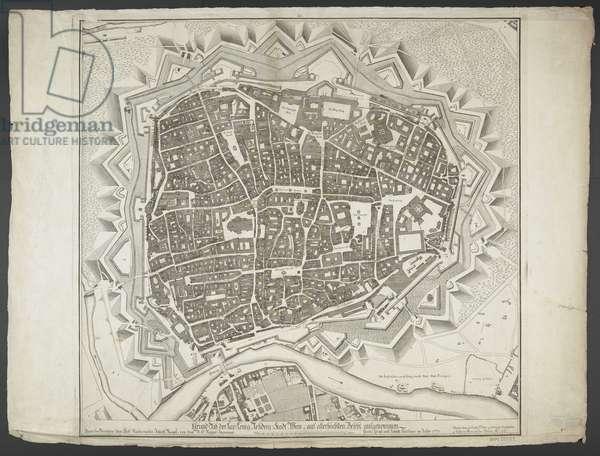 Map of Vienna, c.1740-80 (engraving)