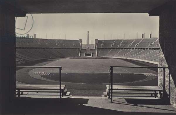 Olympic Stadium, Reichssportfeld, Berlin (b/w photo)
