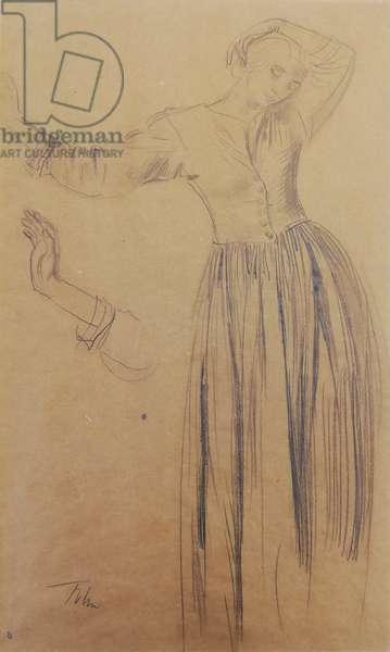 Dorelia Standing, c.1907-08 (pencil on paper)